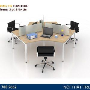 Cụm bàn làm việc văn phòng 3 người VNK09 giá tốt